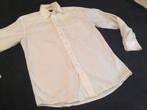 Structure Mens Shirt Size Small Button Front White