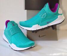 New $130 Nike Sock Dart Clear Jade/Hyper Violet-White Charlotte Hornets Womens 9