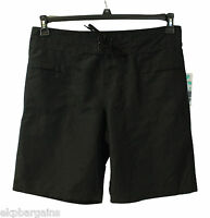 New With Tags Island Escape Womens Swim Front Tie Surf Board Long Shorts Black