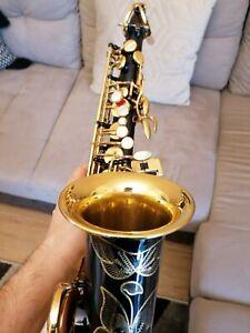 Selmer Super Action 80 alto saxophone black lacquer , great sax Pisoni repadded