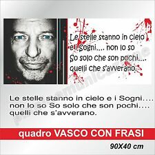 QUADRI MODERNI TELA CANVAS VASCO ROSSI ROCK POP MUSICA   90X40