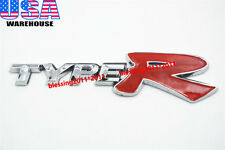 CAR REFITTING TYPER TYPE-R EMBLEM TRUNK BADGE DECAL STICKER FOR HONDA CIVIC (X1)