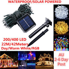42M 400 LEDS Solar String Fairy Lights Outdoor Party Xmas Tree Garde Waterproof