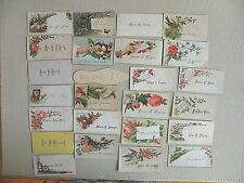 Lot 60 VTC Personal Calling Cards With Person Name Late 1890's