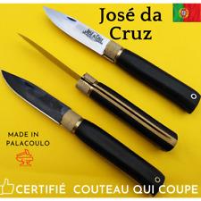 Da Cruz Couteau Portugal 19cm Ebene Buis lame rasoir noire Peche Chasse Nature