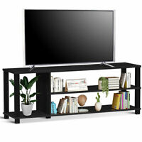 "TV Stand Entertainment Media Center Console Shelf Cabinet Home TV's 50"" Black"