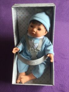 TINY TREASURES DOLL WITH BLUE OUTFIT. SUITABLE FOR CHILDREN AGED 3 YEARS & OVER
