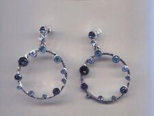 silver earrings pierced Usa Oscar De La Renta Blue