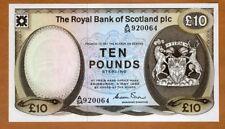 Scotland Royal Bank, 10 pounds, 1982, P-343a, UNC > Scarce in UNC