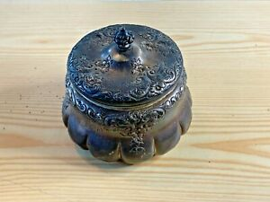 Antique Sterling Silver Repousse Sugar Bowl (150 grams)