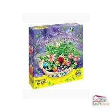 Fairy Garden Kit for Kids Dish Flower Toy Create Magical Miniature Fairy Land