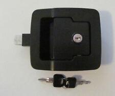 """FIC BLACK RV 5"""" x 4 1/2"""" Baggage Door Lock 30205 Standard Plunger Length 2 Keys"""