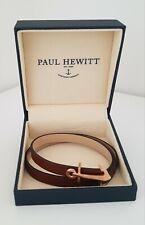 PAUL HEWITT Armband Wickelarmband Anker rosegold braun echtes Leder NEU mit Box