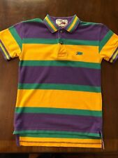 Boys/Girls PERLIS Horizontal Stripe Mardi Gras Crawfish Pique Polo Shirt S