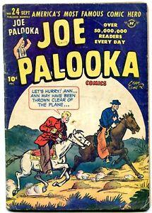 JOE PALOOKA #24 1948-HARVEY -WESTERN COVER-- BLACK CAT VG