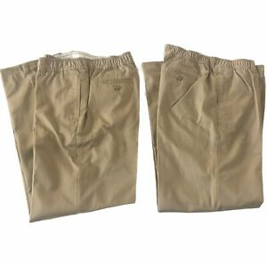 "Lands End Boys Size 20 15-16 YRS Ins 26.5"" Elastic Waist Chino Pants LOT #LE3U"