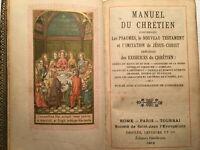 1902 MISSEL NOUVEAU TESTAMENT HYMNES PSAUMES MESSE PRIERES LIVRE RELIGION BOOK