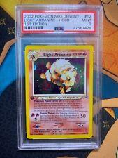 Pokemon 1st Edition HOLO LIGHT ARCANINE 2002 Neo Destiny PSA 9 MINT