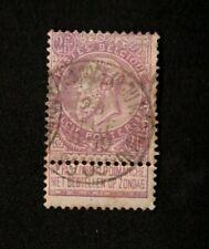 Belgium 1893 fine beard to Fr. Purple stamps