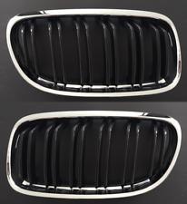 2 GRILLE CALANDRE CHROME ET NOIR DOUBLE LAME BMW SERIE 3 E90 E91 LCI PHASE 2