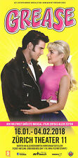 GREASE - DAS MUSICAL IN ZÜRICH 2018 - ORIGINAL FLYER - KEIN TICKET