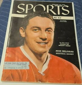 Sports Illustrated Montreal Canadians Hockey Jean Beliveau January 23 1956