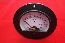 Ac 0 30v Round Analog Voltmeter Voltage Panel Meter Dia 90mm Directly Connect