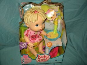 Hasbro Baby Alive All Gone bananas - blond Doll Talking Baby Molded Hair  T3