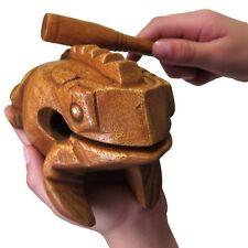 "Bsiri Large 6"" Wood Frog Guiro Rasp-Musical Instrument Tone Block, Brown, inc."