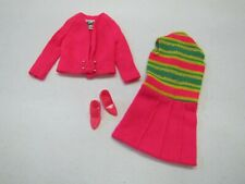 "Vintage Barbie Doll 1968 ""TEAM UPS"" #1855 MOD Era Sweater Dress CT Japan Heels"