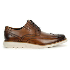 Rockport Men's Total Motion Sport Dress Wing Tip Cognac/Leather Shoes CH4998 ...