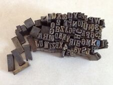 Mixed Lot 70 Letterpress Serif Printing Press Letters Numbers Metal Type Small
