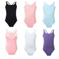 Girls Ballet Dance Dress Gymnastics Leotard Jumpsuit Stretch Dancewear Bodysuit