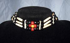 Handmade Native American Buffalo Bone Hairpipe Sun Choker Necklace NWOT