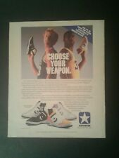 1986 Magic Johnson~Larry Bird Converse Basketball Shoes 10 x 12 Large Size AD