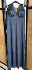 Vintage DeWeese Design Black Long Maxi Halter Swim Dress Built In Bra Bust 40