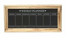 Shabby Chic Wooden Weekly Planner Heart Notice Chalk Memo Message Black Board