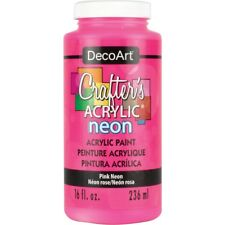 Crafter's Acrylic All Purpose Paint 16oz-pink Neon