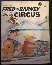 Vintage 1972 Durabook Fred And Barney Join The Circus Flinstones