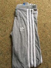 Adidas Grey 3 Stripe Leggings Size 12