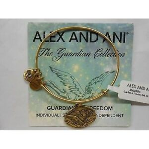 Alex and Ani GUARDIAN OF FREEDOM Expandable Wire Bracelet Rafaelian Gold NWTBC
