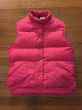 Vtg 80s LL Bean Vest Women's Pink Puff Medium Issues