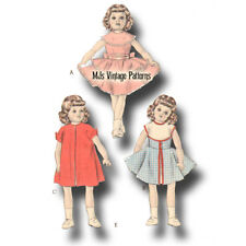 "Doll Clothes Pattern Vintage 1950s ~ 15"" 16"" Toni, Miss Revlon, Sweet Sue"