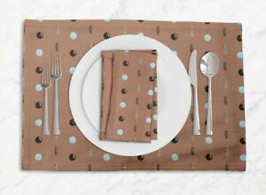 S4Sassy Circle & Oval Geometric Placemats & Napkins Table Decor Mats-GMD-649G