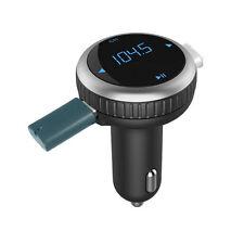 Bluetooth FM Transmitter Wireless Car Kit Radio Adapter MP3 Player Dual USB SLVR