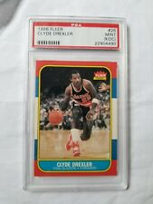 1986 Fleer Clyde Drexler #26 rookie Basketball Card. Graded PSA 9