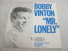 """Bobby Vinton ~ """"MR. LONELY"""" Epic 45 RPM Picture Sleeve Only"""