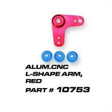 Ofna CNC Aluminum R/C L-Shape Servo Arm (Fut/Air/Savox) Rose, 10753