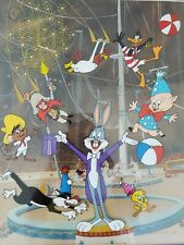 "SIGNED FRIZ FRELENG ANIMATION CEL Bugs Bunny CIRCUS #412/500 1988 20""x22"""