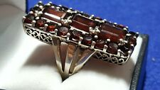 Silver 925 Garnet Ladies Statement Ring. ZZ555